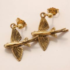 Flying Fish Collection. Featured image is our post earrings in 14K Gold.