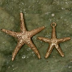 Starfish Pendant in 14K Gold - Large