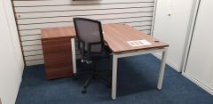 Quality Radial / Curved Desking With Matching Modular Pedestal + Boss Design Felix Chair - Quality Set-up :