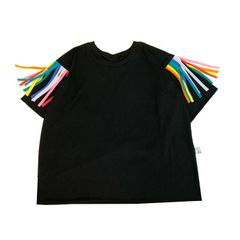 Whitney Tassel Tee in Black