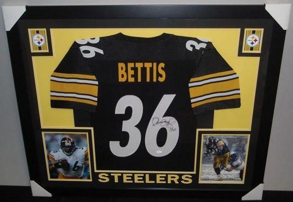c09b985b074 Jerome Bettis Autographed Pittsburgh Steelers Custom Framed Jersey, JSA COA  | Gridiron Greats: Authentic Autographed NFL Football Memorabila