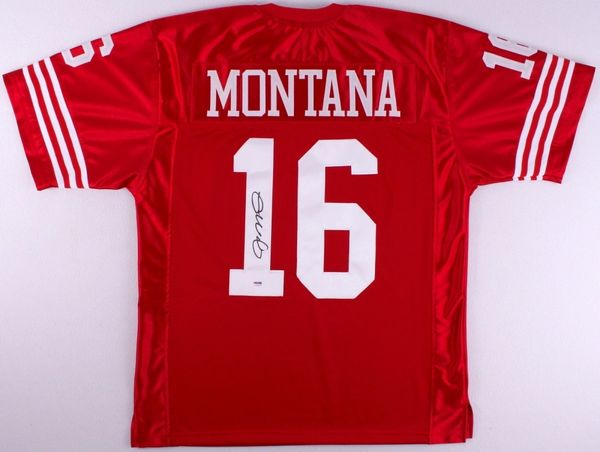 timeless design 5c3d6 52d5b San Francisco 49ers Joe Montana Autographed Jersey, PSA COA