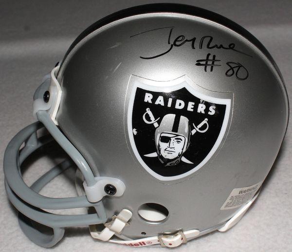 ea3497515 Jerry Rice Autographed Oakland Raiders Mini-Helmet