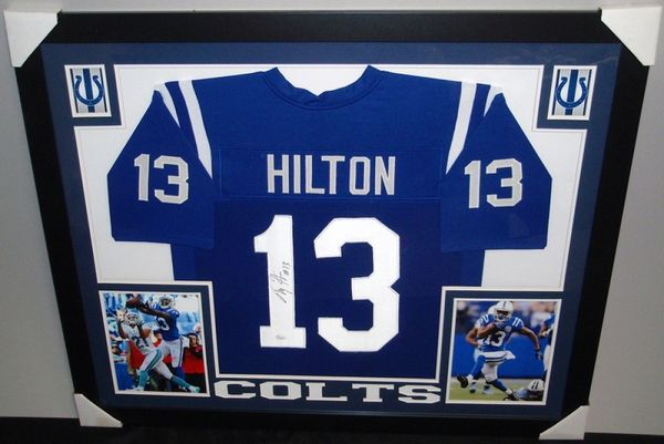 T.Y. Hilton Autographed Indianapolis Colts Custom Framed Jersey, JSA