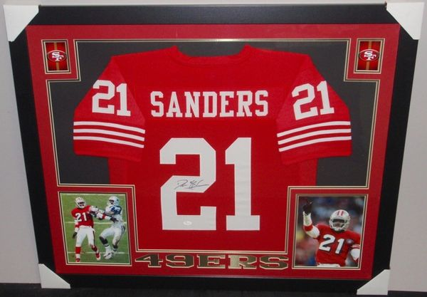 4b2adb033 Deion Sanders Autographed Framed San Francisco 49ers Jersey