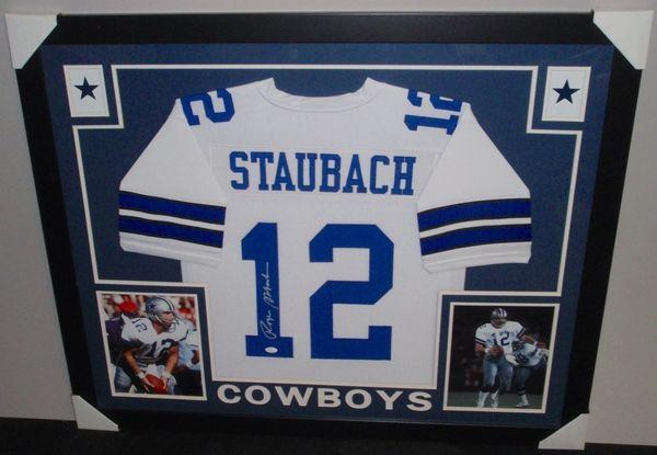 e53295ee048 Roger Staubach Autographed Dallas Cowboys Custom Framed Jersey, JSA COA |  Gridiron Greats: Authentic Autographed NFL Football Memorabila