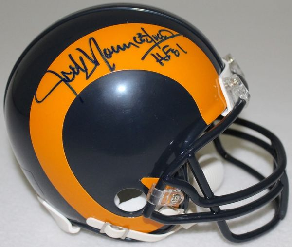 5602eb74c Jack Youngblood Autographed Los Angeles Rams Throwback Mini-Helmet ...