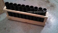 10 Tube consumer mortar rack w/o tubes