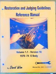 Dodge and Plymouth E body (Challenger and Barracuda) 1970-74 Reference Manual: Restoration and Judging (SKU JME 1.1 )