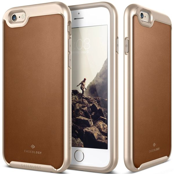 new product 04481 3ab53 iPhone 6S Plus case, Caseology® [Envoy Series] [Leather Brown] Premium  Leather Bumper Cover [Leather Textured] for Apple iPhone 6S Plus (2015) &  ...