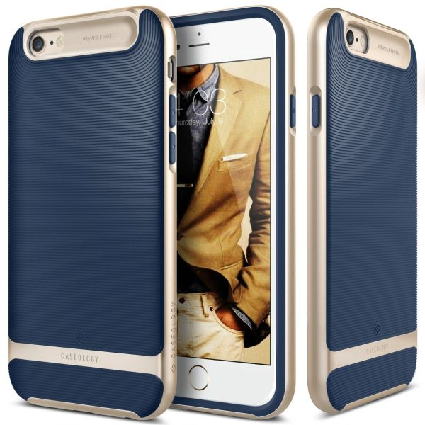separation shoes 41d04 b24b5 iPhone 6S Plus case, Caseology® [Wavelength Series] [Navy Blue] Textured  Pattern Grip Cover [Shock Proof] for Apple iPhone 6S Plus (2015) & iPhone 6  ...