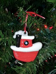 """Lil' Red"" Tugboat Christmas Ornament"