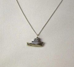 Tugboat Pendant & Chain Necklace