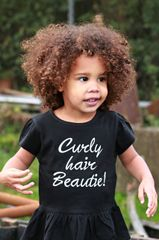 A Toddler Ruffle Fine Jersey Tee - Curly hair Beautie