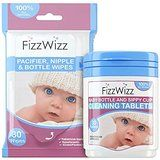 FizzWizz Set - Bottle & Sippy Cup Cleaning Tablets + Pacifier & Bottle Wipes