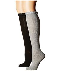 School Uniform Ruffle Knee High Socks - Grey Heather Color Only