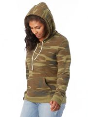 Alternative - Eco-Fleece™ Women's Camo Athletics Hooded With or Without Monogram