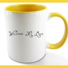 Glossy 11 oz Coffee Mug - Welcome My Love