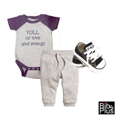 -Infant Baseball Fine Jersey Body Suit - Full of Love and Energy