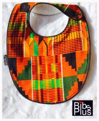 -Hand-Handcrafted Triple Layer Kente Style 101 Inspired Bib