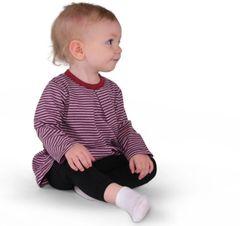 Organic Baby Girl Swing Top: Heather Mulberry/Purple Haze