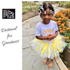 Handcrafted Yellow and White Flowers Tutu with Satin Bow - Pricing by size