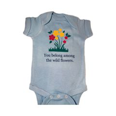 -Infant Baby Rib Bodysuit - You belong among the wild flowers