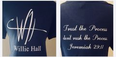 -Willie Hall Short Sleeve Signature Message Tee
