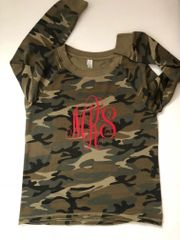 Lady Lazy Day Camo French Terry Crewneck Sweatshirt