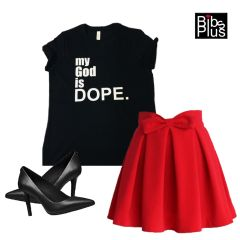 my God is DOPE Bella + Canvas Jersey Tee - For every tee purchase we donate $5.00 to St. Jude