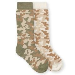 Cotton Rich Camo Knee High Socks