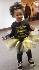 Handcrafted Yellow & Black Tulle Tutu with Satin Bow - Pricing by size - up to 6 months $22, 12-24 months $30, and $35 all other sizes up to size 7