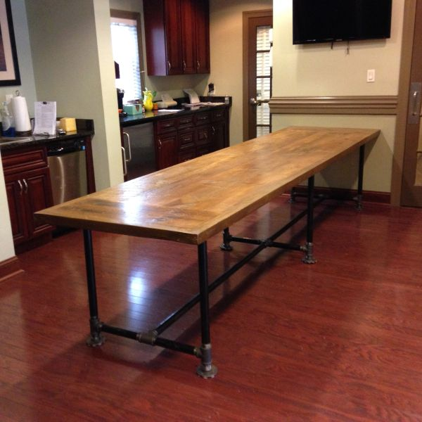 Reclaimed Wood Conference Table And Pipe Base Reclaimed Wood Table - Round wood conference table