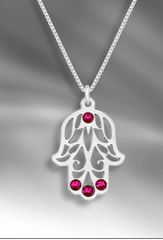 Shira - Spring Hamsa Necklace