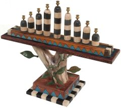 Sticks - Birch Menorah with Vine Elements