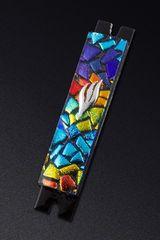 Cohen - Mosaic Chips Rainbow Mezuzah