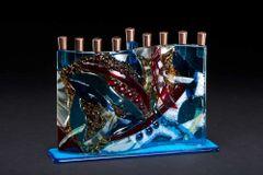 Cohen - Fused Glass Menorah