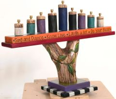 Sticks - Log Menorah-Sing and Dance