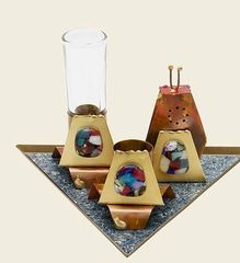 Rosenthal - Havdalah set on triangular base.