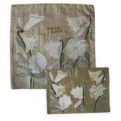 Emanuel - Raw Silk Lily Matzah Cover