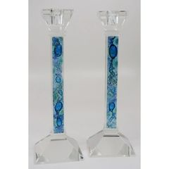 "Baskin - Mediterranean Sea Candle Holders 10"" Tall"