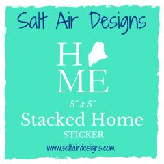 Stacked Home Sticker