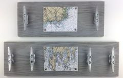 Customizable Nautical Chart Cleat Racks