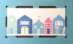 Colorful Houses - Framed