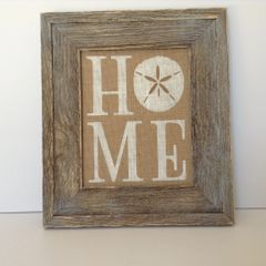 Home w/ Sand Dollar - Burlap Collection