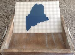 Insert Only - Customizable Blue & Grey Check