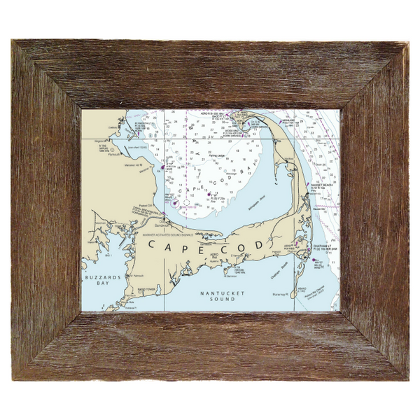 Custom framed nautical charts salt air designs