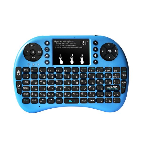 Rii i8+ Wireless Mini Keyboard-Blue