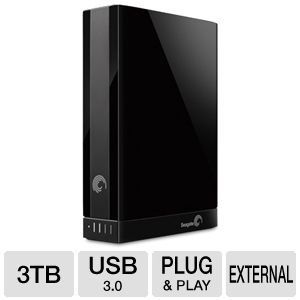 Seagate Backup Plus 3TB Desktop External Hard Drive USB 3.0