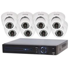Galaxy AHD 8CH 720P Dome Indoor/Outdoor D&N Package